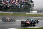 Mark Webber (Red Bull), Sebastian Vettel (Toro Rosso) und Jenson Button (Honda F1 Team)