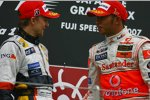 Heikki Kovalainen (Renault) und Lewis Hamilton (McLaren-Mercedes)