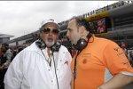 Vijay Mallya (Teameigentümer) und Colin Kolles (Teamchef) (Spyker)