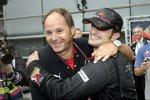 Gerhard Berger (Teamanteilseigner) und Vitantonio Liuzzi (Toro Rosso)