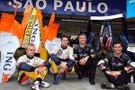 Heikki Kovalainen, Giancarlo Fisichella, David Coulthard und Mark Webber