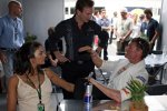 Christian Horner (Teamchef), David Coulthard (Red Bull)