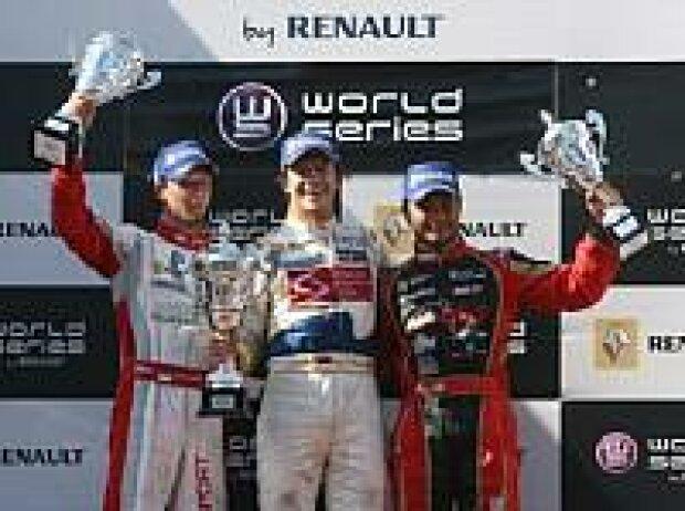 Bertrand Baguette, Ben Hanley und Alejandro Nuñez