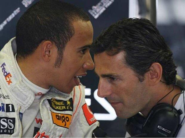 Lewis Hamilton und Pedro de la Rosa