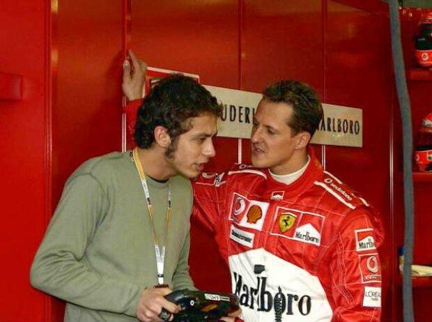 Valentino Rossi und Michael Schumacher