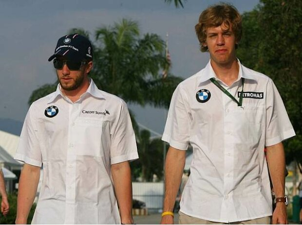 Nick Heidfeld mit Sebastian Vettel