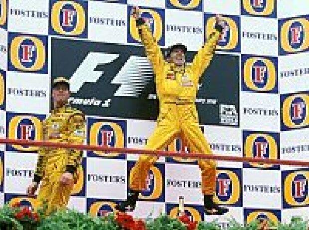 Ralf Schumacher und Damon Hill