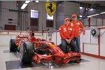 Kimi Räikkönen und Felipe Massa mit dem F2008