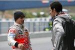 Heikki Kovalainen (McLaren-Mercedes) und Mark Webber (Red Bull)
