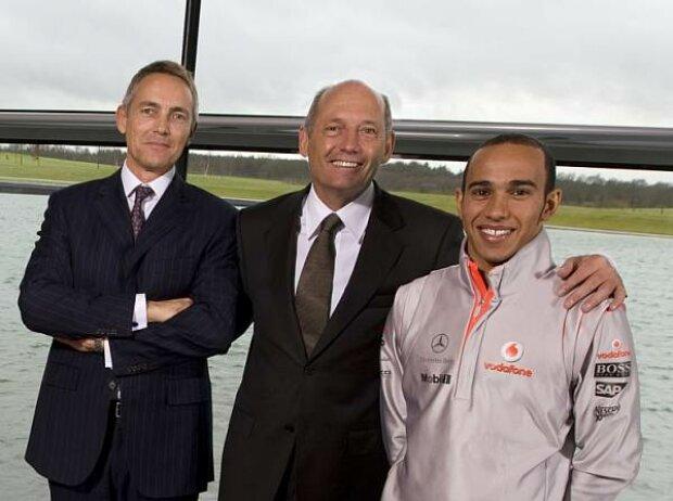 Martin Whitmarsh, Ron Dennis und Lewis Hamilton