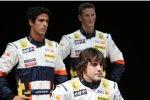 Lucas di Grassi, Romain Grosjean und Fernando Alonso (Renault)