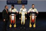 Lucas di Grassi, Ben Hanley und Romain Grosjean (Renault)