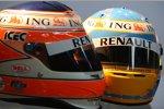 Die Helme von Nelson Piquet Jr. und Fernando Alonso (Renault)