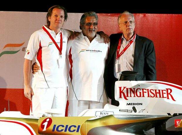 Michiel Mol, Vijay Mallya und Jan Mol