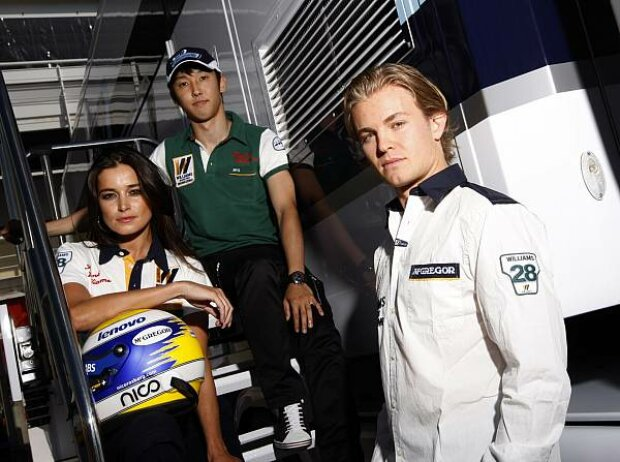 Kazuki Nakajima und Nico Rosberg
