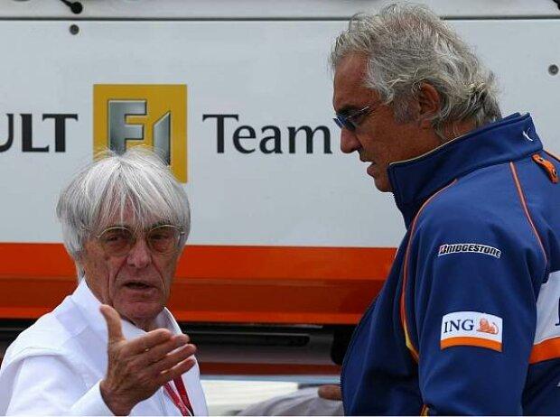 Bernie Ecclestone und Flavio Briatore