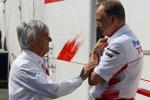 Bernie Ecclestone (Formel-1-Chef) und John Howett (Teampräsident) (Toyota)