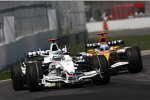 Nick Heidfeld (BMW Sauber F1 Team) vor Fernando Alonso (Renault)