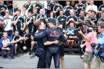 Christian Horner und David Coulthard (Red Bull)