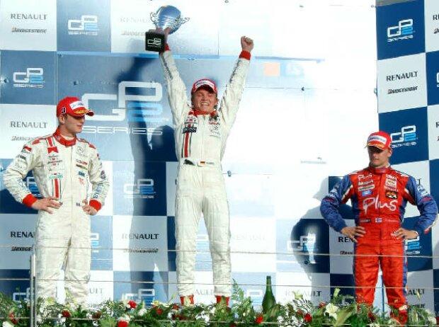 Alexandre Premat, Nico Rosberg und Heikki Kovalainen
