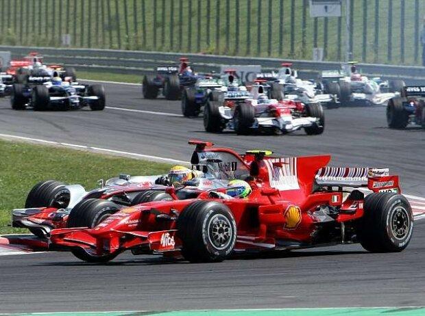 Lewis Hamilton und Felipe Massa