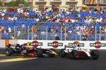 Luca Filippi (Arden) schießt Romain Grosjean (ART) aus dem Rennen