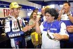 Valentino Rossi und Diego Maradona