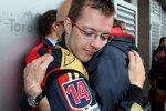Sébastien Bourdais (Toro Rosso) und Franz Tost (Teamchef)