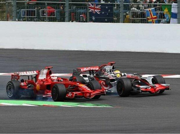 Kimi Räikkönen und Lewis Hamilton