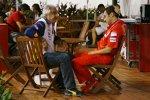 Flavio Briatore (Teamchef) (Renault) und Stefano Domenicali (Teamchef) (Ferrari)