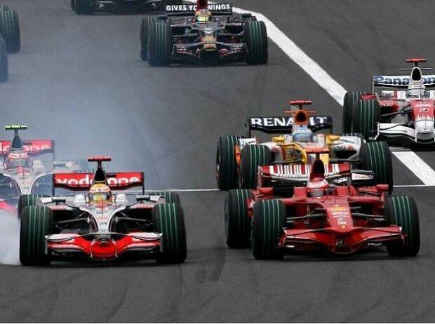 Lewis Hamilton und Kimi Räikkönen