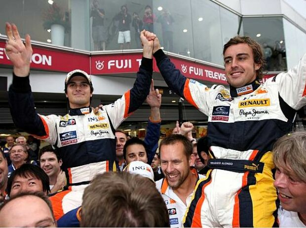 Fernando Alonso und Nelson Piquet Jr.