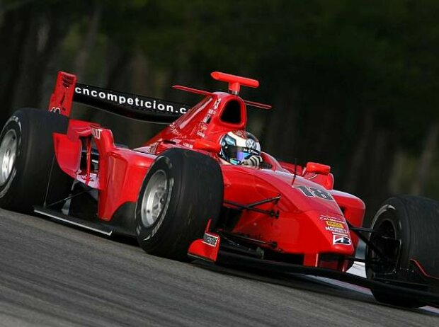 Carlo van Dam GP2 Test BCN
