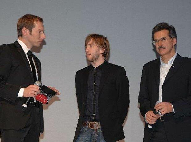 Markus Othmer, Nick Heidfeld und Mario Theissen