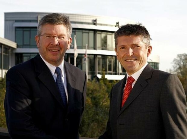 Ross Brawn und Nick Fry