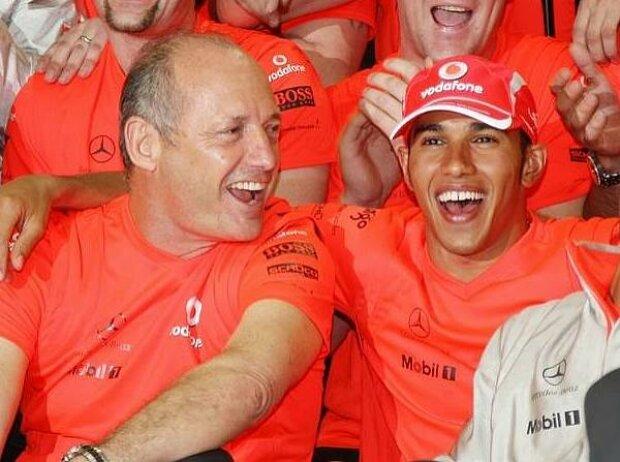 Ron Dennis und Lewis Hamilton