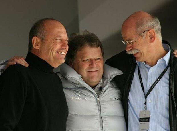 Ron Dennis, Norbert Haug und Dieter Zetsche