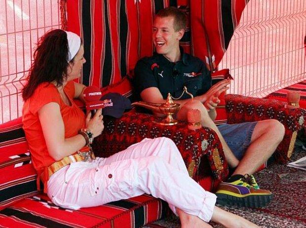Tanja Bauer und Sebastian Vettel