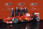 Gilles Simon, Nikolas Tombazis, Stefano Domenicali (Teamchef) und Aldo Costa