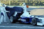 Nick Heidfeld und Robert Kubica (BMW Sauber F1 Team) enthüllen den neuen BMW Sauber F1.09