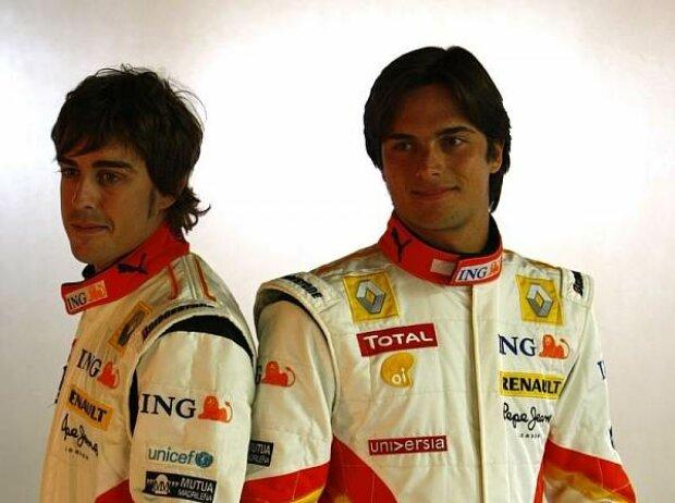 Fernando Alonso und Nelson Piquet