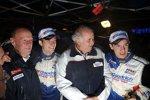 So sehen Sieger aus: Sébastien Ogier und Peugeot