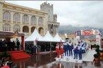 Das Podium vor dem Fürstenpalast