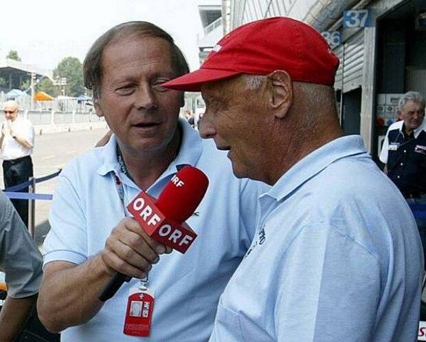 Heinz Prüller und Niki Lauda