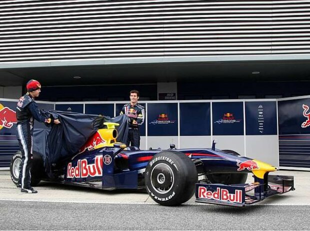 Sebastian Vettel, Mark Webber und der Red-Bull-Renault RB5