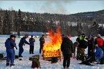 Bei arktischen Temperaturen muss man sich warm halten
