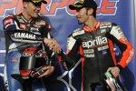 Ben Spies (Yamaha) und Max Biaggi (Aprilia)
