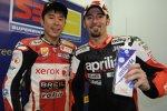 Shinya Nakano und Max Biaggi (Aprilia)