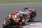 Max Biaggi (Aprilia) vor Noriyuki Haga (Ducati) und Ben Spies (Yamaha)