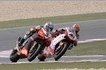 Max Biaggi (Aprilia) und Noriyuki Haga (Ducati)